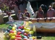 Google Apparition statue Jelly Bean campus