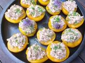 recette Pêches farcies thon