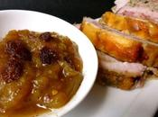 Chutney rhubarbe rôti porc