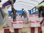 Sahel chargement tonnes produits nutritionnels arrivé bases