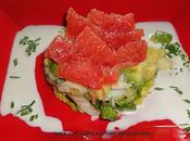 Timbale crabe pamplemousse rose