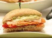 Sandwich saumon fume