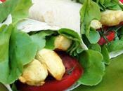 Wrap poulet tomate basilic