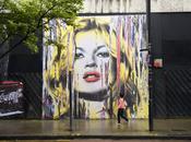 Découvrez portrait géant Kate Moss Londres