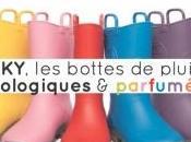 Insolite bottes pluie écologiques... parfumées
