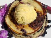 Pancakes myrtilles, glace vanille