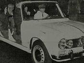 Président Giuseppe Saragat dans Alfa Romeo Giulia Super -Torpedo
