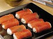 Roulade truite fumée œufs saumon