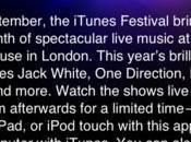 Concerts Live chez vous avec iTunes Festival!