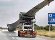 Convoi exceptionnel d'éolienne Danemark