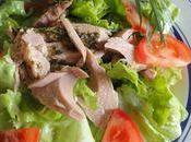 Salade verte eminces thon romarin persil