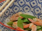 Curry Crevettes Haricots Plats Vermicelles