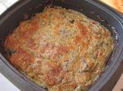 petit soufflé champignons/courgettes/jambon/roquefort
