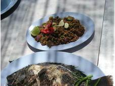Cuisine authentique campagne thaïlandaise