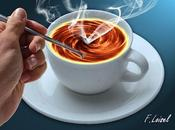 Café volcano, tutoriel photoshop étapes