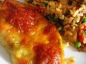 Escalope poulet pesto mozzarella