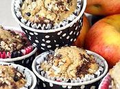 Muffins pommes, chocolat farine châtaigne