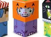 Trick-or-Treat Monsters papertoys