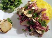 Assiette automnale poêlée cèpes purée butternut