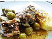 Mijoté boeuf olives accompagné polenta