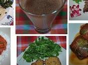Spaghettis salicornes consoude, Crème légère chocolat, Feuilles vigne farcies façon, Pâté végétal lentilles, sauce cajun, Galettes céréales champignons...