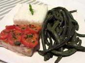 Perche poivronade piment d'Espelette accompagnée haricots saveur méditerrannéenne