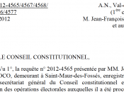Législatives L'élection d'Henri Plagnol annulée Conseil Constitutionnel