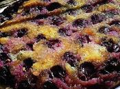 Gâteau renversé miel raisin frais