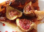 Tarte feuilletée figues, crème cassis épices douces