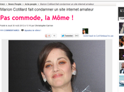 Marion Cotillard joue mal, mais censure sites amateurs