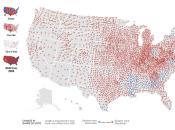 """Géographie élections présidentielles étatsuniennes premières cartes """"Amérique pourpre"""""""