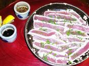 recette Boeuf Rostbeef japonaise Tataki