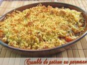 Crumble potiron parmesan épices douces