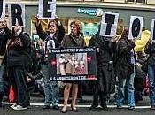 Manifestation anti-fourrure. Paris.
