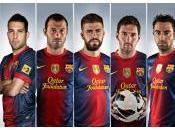 composera l'équipe UEFA l'année Blaugranas parmi candidats