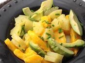 Salade avocat, mangue ananas