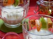 Panna Cotta Pain d'épices Brochettes Fruits