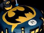 Gâteau Batman, genoise vanille fourrée crème beurre