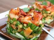 voici timbale crevettes avec papaye herbes