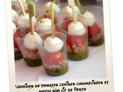 Verrine tomate mozza pesto...