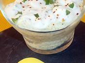 Verrine mousse courgettes sauce herbes