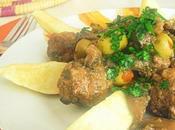Tajine boulettes viande hachée champignons olives