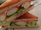 Recette n°39: Club sandwich surimi concombre.