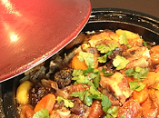 Tajine l'agneau, miel fruits secs