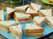 Club-sandwich saumon fumé, kiri ciboulette