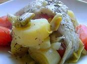 Filet Cabillaud Bouillon Légumes