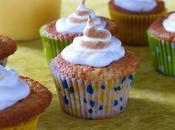 Cupcakes citron meringués, coeur lemon curd