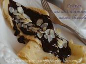 Crêpes lait d'amandes, Sauce chocolat