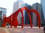 Paris Grand Stabile Rouge l'Araignée oeuvre d'Alexander Calder place Général Gaulle Défense