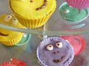 Gâteau d'anniversaire cupcakes barbapapa, décoration pâte d'amandes